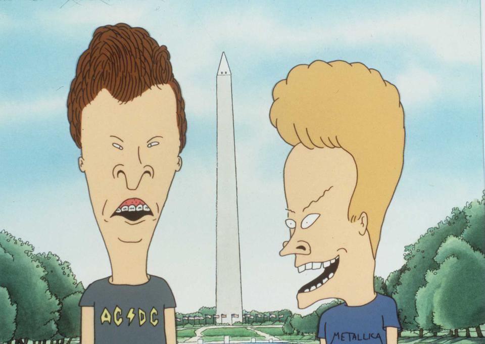 1997 Beavis (Right) And Butt-Head From The Movie Beavis And Butt-Head Do America